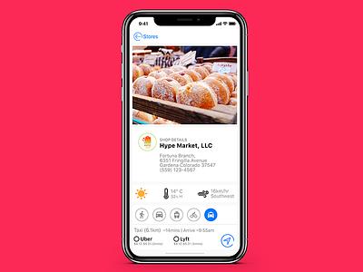 Store information lyft uber store ux ui shop e-commerce app ios