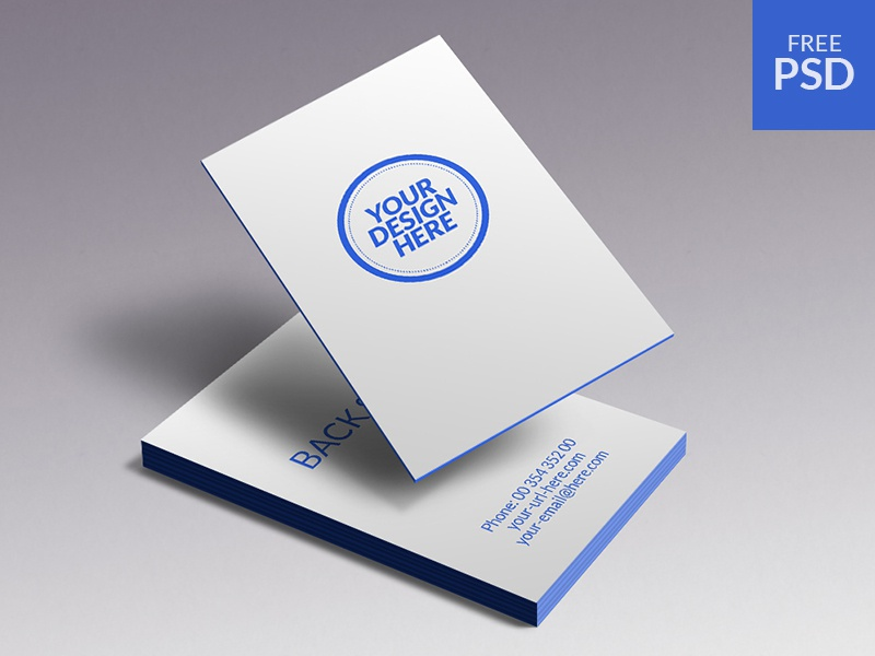 Business Cards Mockup - free psd business cards mockup free psd print card