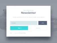 Join Newsletter - improvements