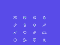 Healt care icons set