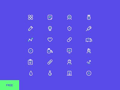 Healt Care Icons Set icons ambulance healthcare hospital doctor medical medicine
