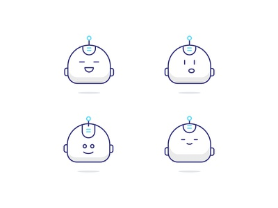 Robbie - Character robbie bot ilustration icons character robot chatbot