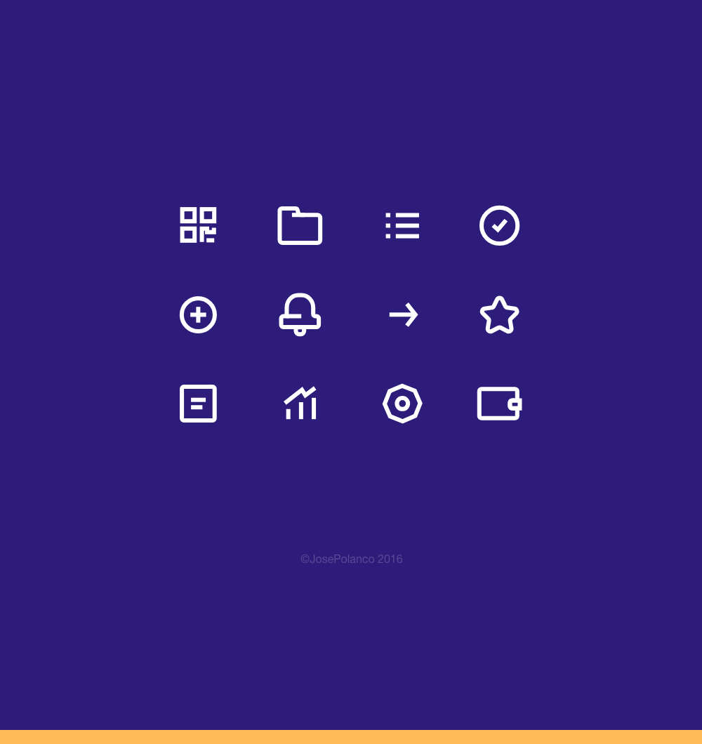 Crypto wallet icons