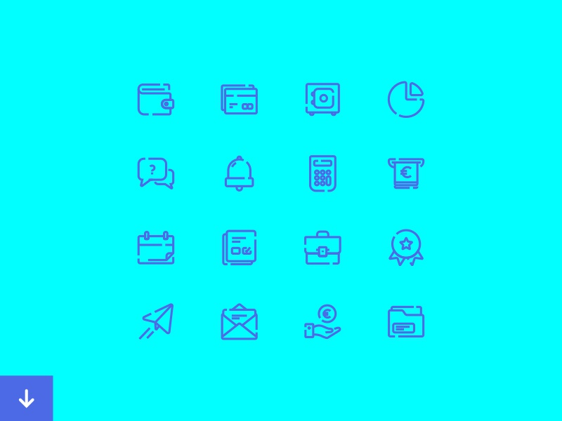 Banking icons set by José Polanco