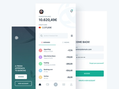 Triodos Bank App Concept triodos banking transaction credit card login filtres alerts