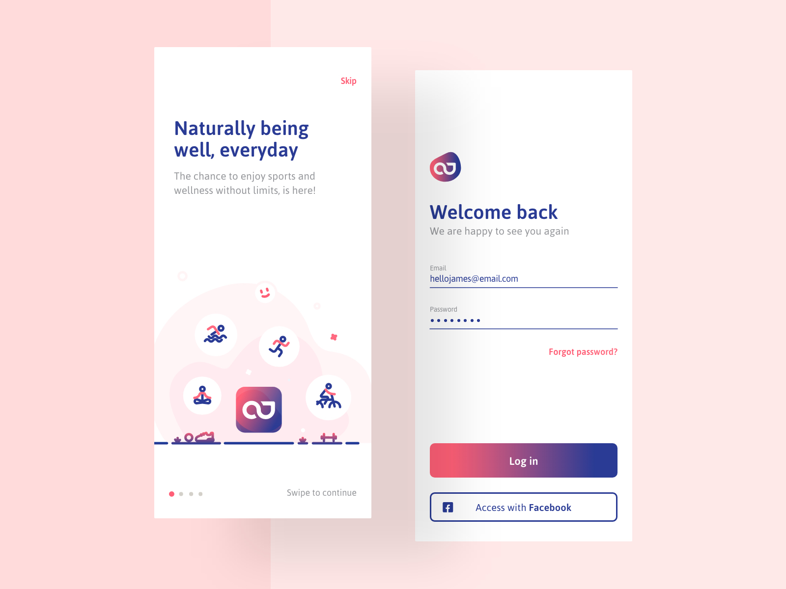 Welcome-Login by José Polanco on Dribbble