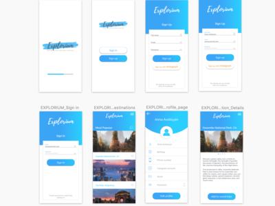"""""""Explorium"""" Mobile App Design"""