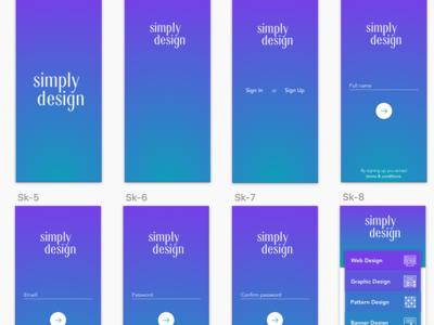 Mobile App UI Design Using Sketch App