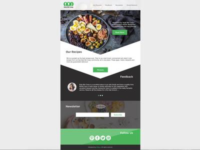 """Kale Me Crazy"" Restaurant Landing Page"