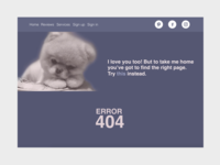 Pawtastic 404 Error Page :)