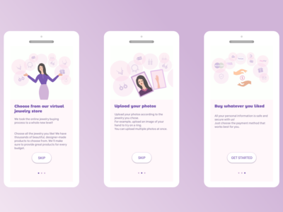 Virtual Jewelry Store  Onboarding - Daily UI 023