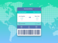 Boarding Pass - DailyUI - 024