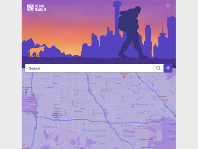 Map UI Design, Illustration Design