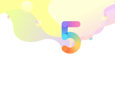 Number 5 and the Soap Bubbles