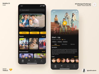 Kdrama Streaming Apps (UI Design) movie movieapps apps kdrama ui uidesign uiux
