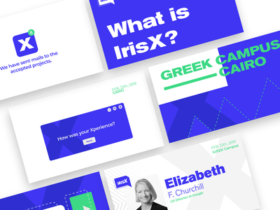 IrisX 2019 website type ios mobile event 2d illustrator typography identity icon vector logo web minimal ux ui flat illustration design branding