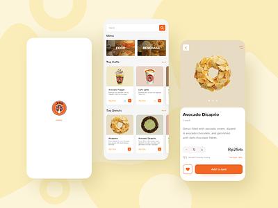 Food and Beverage App   JCO Donuts app food app user interface design donuts food userinterface uiux designer uiux design uiuxdesign uiux brandinng baverage ux ui design uid mockup android inspiration adobexd