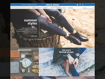 Alan's Shoes Website Design design agency shoe website shoes web design website design website concept website web  design