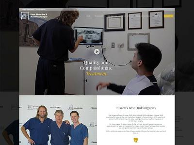 Casas Adobes Oral Surgery Website Design dental website design oral surgery web design website design website concept website web  design web design agency design