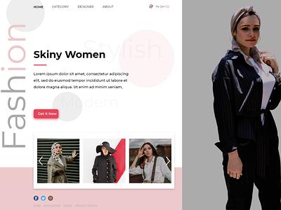 Landing Page Fashion Web design web ux ui