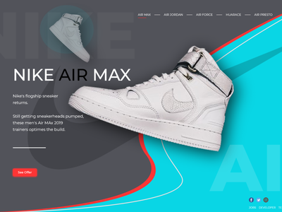 Landing Page Shoe's Olshop Web design web ux ui