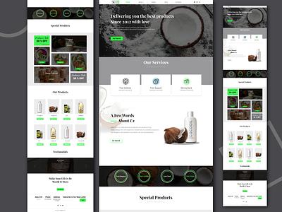 coconout website product ux ui design web