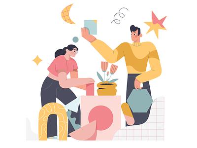 Building Future Together illustration