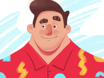 Just a random dude editorial flat illustrator illustration drawing guy dude male character