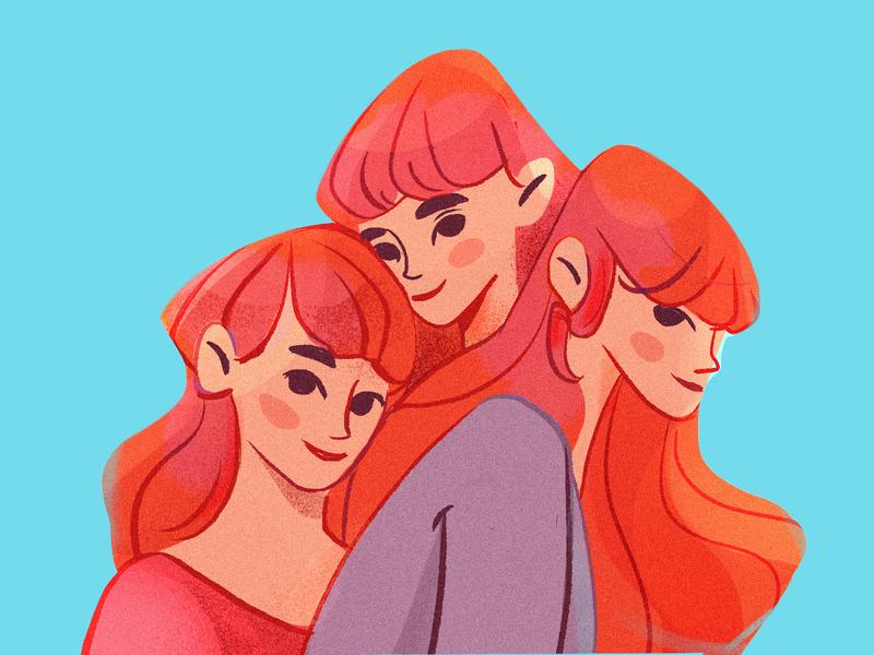 Redheads illustration