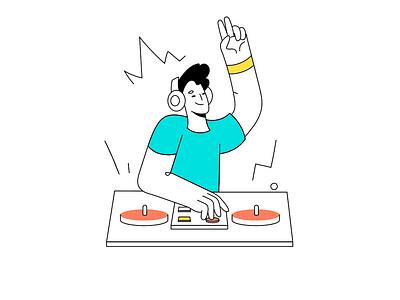 DJ illustration illustration