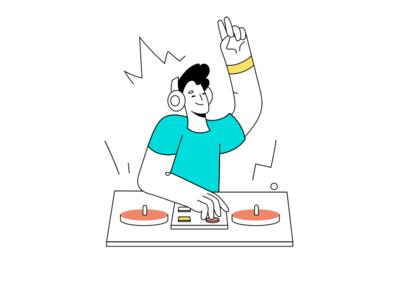 DJ illustration