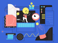 Editorial illustration for online magazine