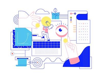 Startups And Crowdfunding illustration