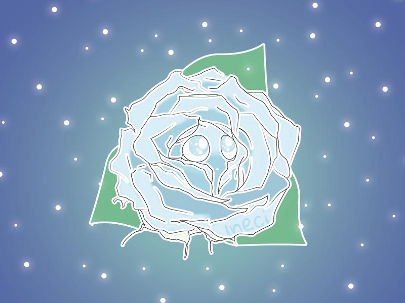 Rose caracter design photoshop vector illustration