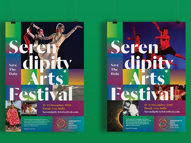 Branding for Serendipity Arts Festival, 2018