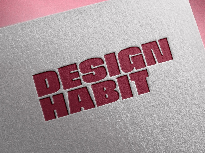 Design Habit Branding proposal letterhead red india branding branding design branding and identity deboss envelope studio branding logo design bold confident heavy typography