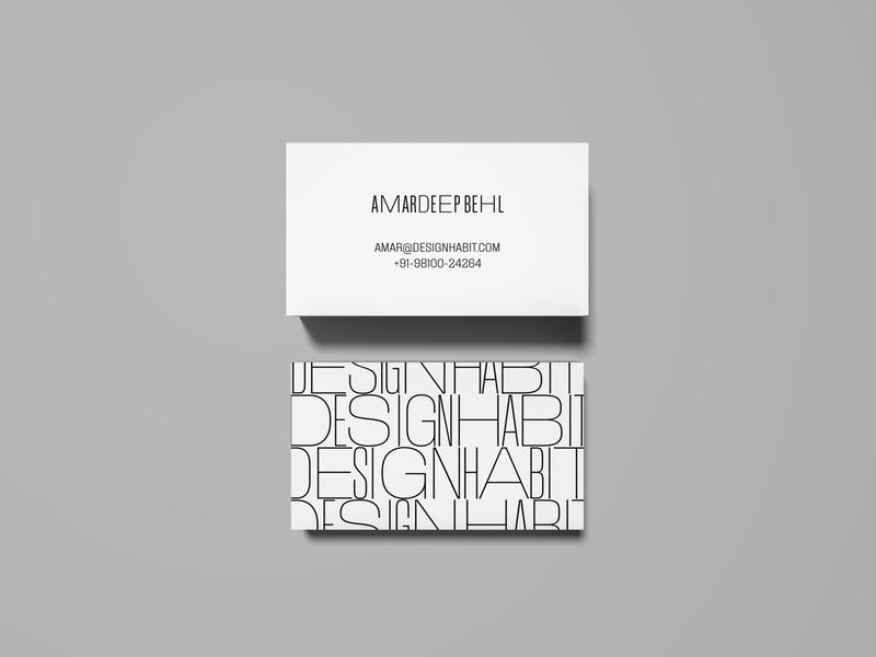 Design Habit Branding Proposal #6 website design website envelope tshirt letterhead business card visiting card india branding variable type flexible typography identity logo logo design india branding and identity branding design branding