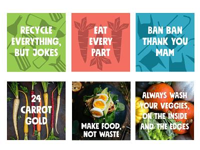 Eat Safe Branding recycle funny instagram post identity design food branding eat branding and identity branding illustration india