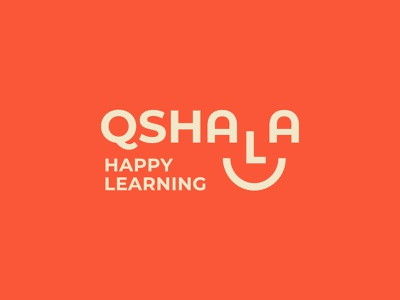 Qshala Happy Learning Logo logo face indian branding india logo learning smiley face smile logo smile logo design branding and identity branding design branding india