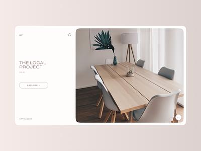 The Local Project magazine blog article ui minimal app