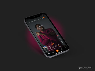 Home Page - Mitron TV iPhone App mobile app design mobile ui mobile app uidesign ux user interaction user profile user interface design user interface design app ui minimal