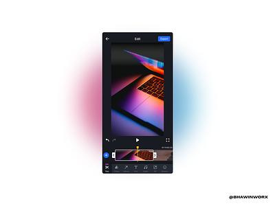 Mobile Video Editor mobile editor editor video editor app ui minimal design