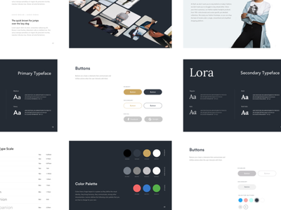 SF Brand Styleguide (Part 2) fonts logo identity ui elements buttons minimal fashion ecommerce styleguide branding