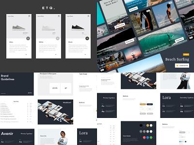 2018 shopping mobile card branding app blog article fashion ecommerce ux ui minimal design