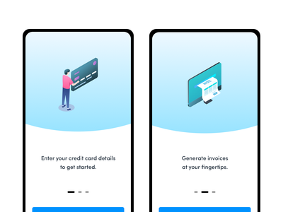 Onboarding Gradient Icons credit card credit payment illustration vector minimal app ux ui gradiant onboarding screens onboarding icons design