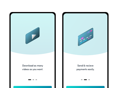 Onboarding & Gradient Icons play button credit card payment app screens onboarding ui onboarding icon vector illustration app ui ux minimal design
