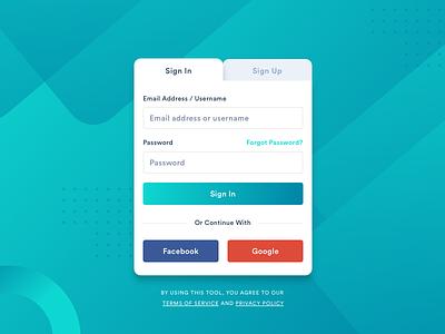 Sign In / Sign Up ux minimal sign up form sign up interface design login page login screen login login box login form sign in page sign in form sign in design ui
