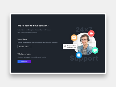Customer Support webdesign website ui design customer service customer support support