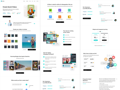 InVideo Homepage 2019 app ux ui minimal design home page design landing page concept homepagedesign homepage landing page ui landing page landingpage