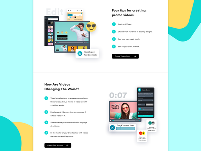 InVideo Landing Page Scroll landing page illustration features page features second scroll sections ui design scroll landing page template landing page concept landing page design landing page ui design landing page ui landingpage landing page ux ui design